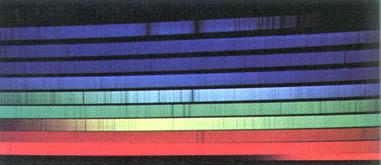 Echellegitter-спектр Солнца с Фраунгоферовыми линиями