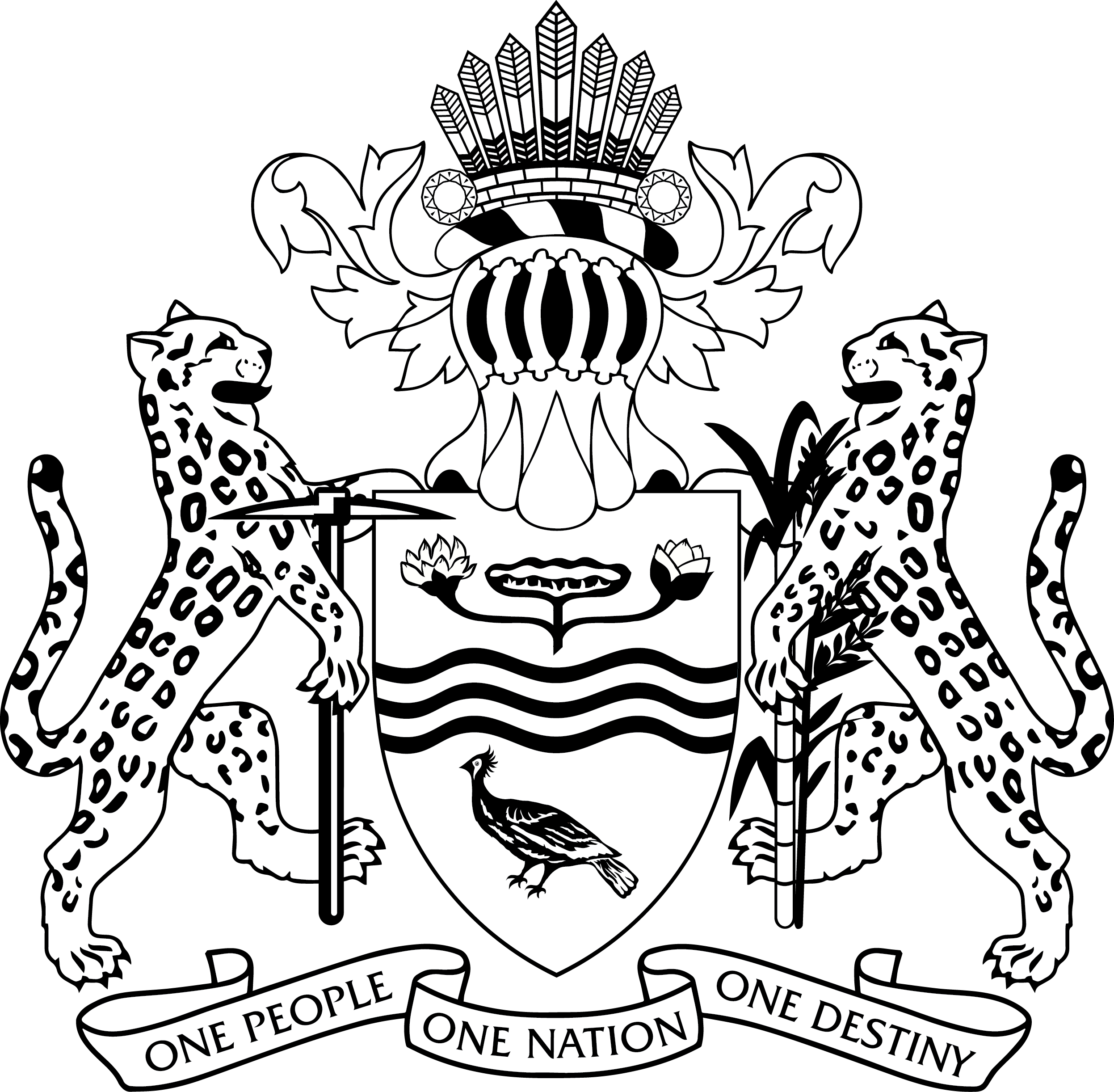 File Guyana Coat Of Arms Bw Png Wikimedia Commons