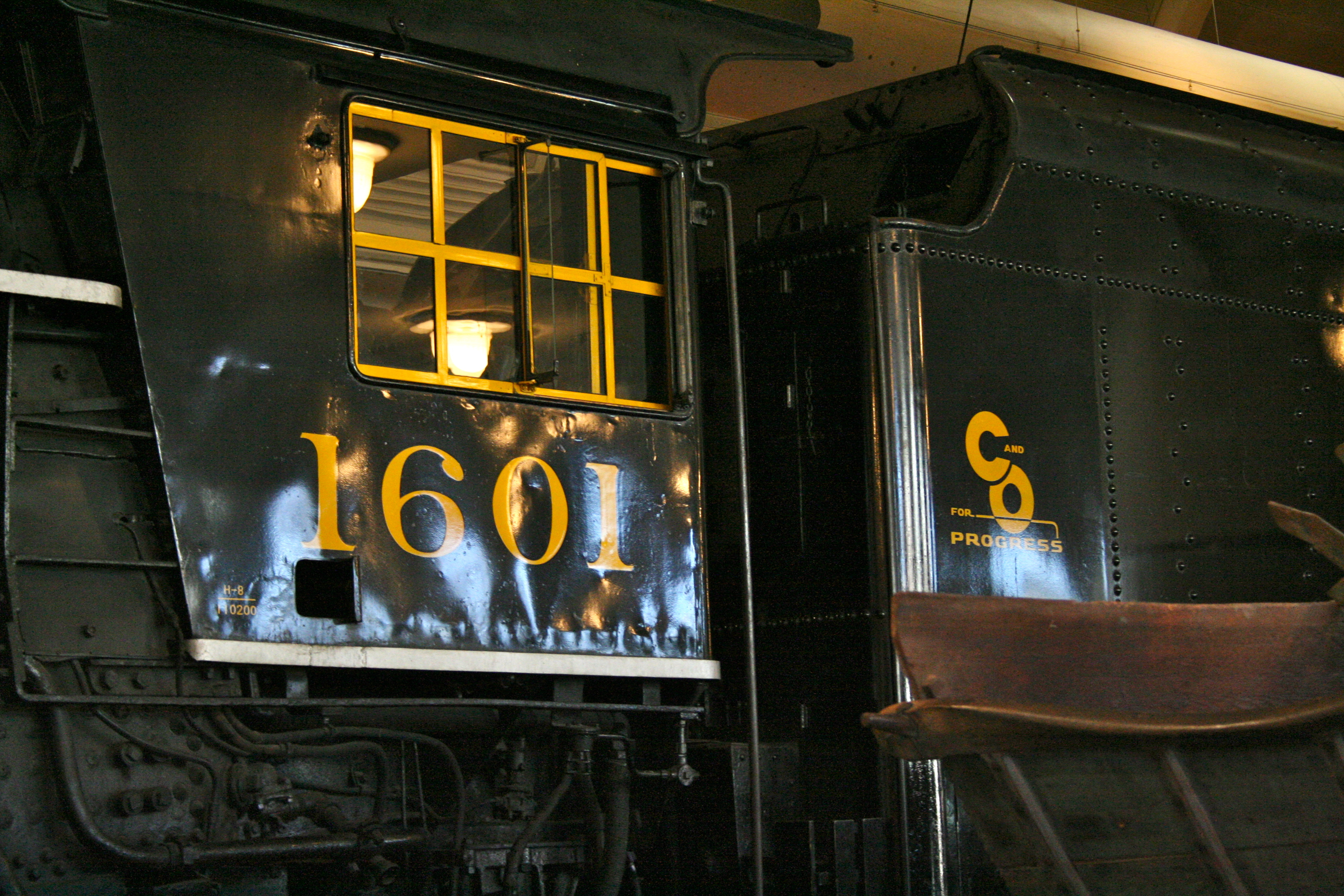 Lima Locomotive Works Drawings Locomotive 1601 on Display