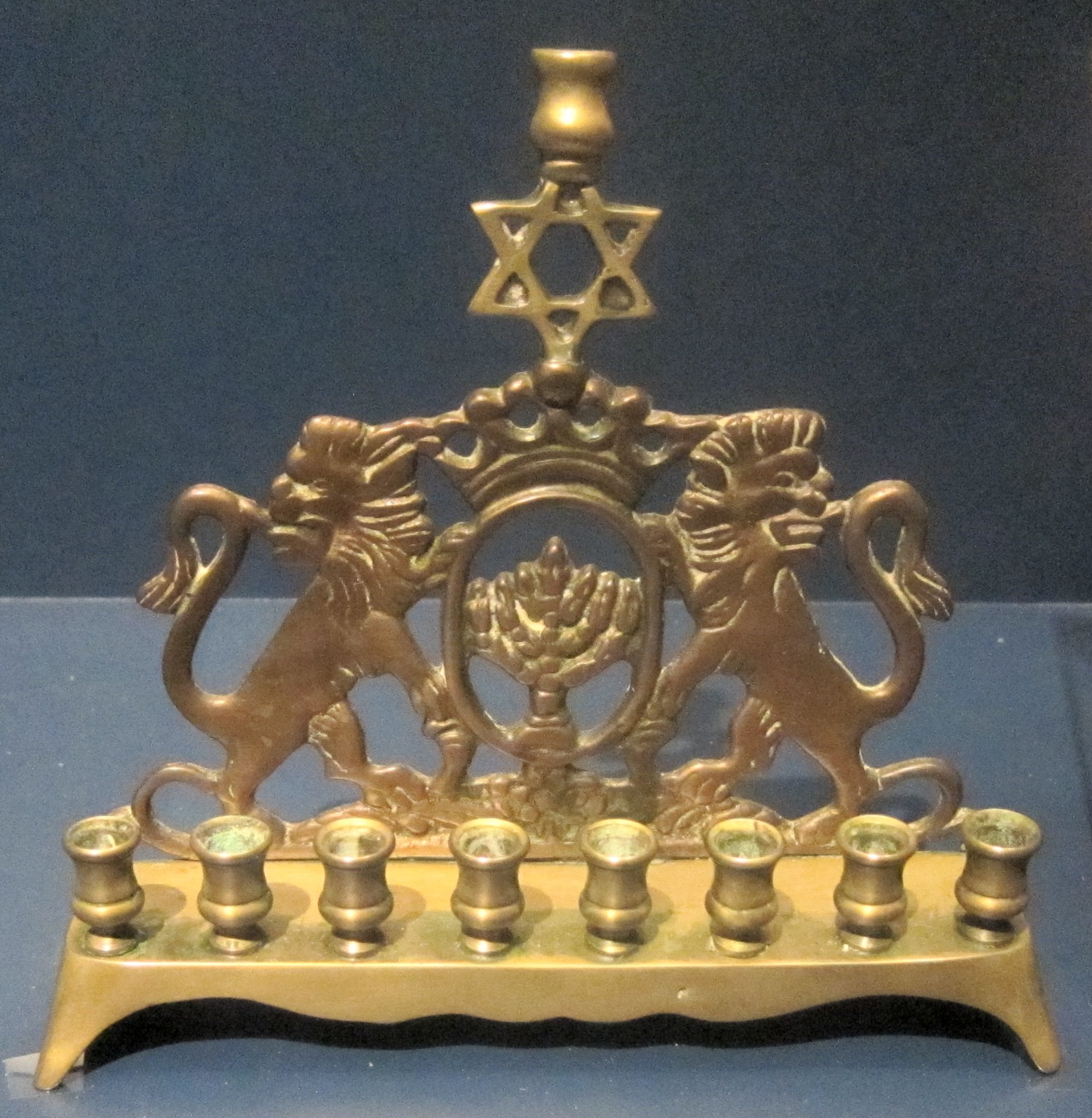 File:Hanukkah menorah, Russia, 1890, brass, National ...