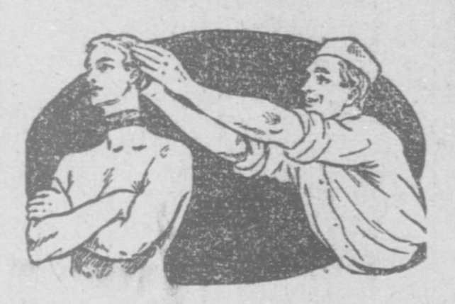 Hatted man pulling off another man's head.jpg