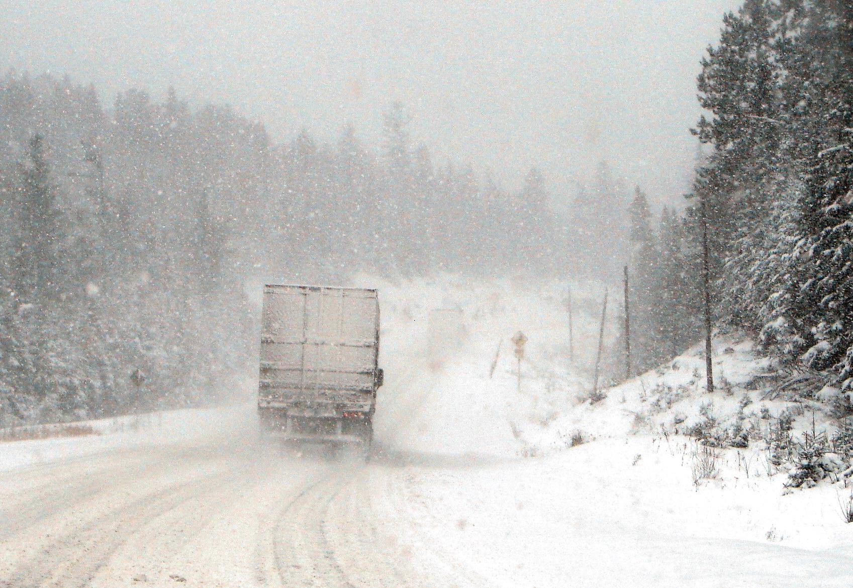 Hwy 11 Ontario Canada In Winter