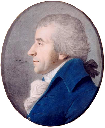 Brissot portrait by [[Fouquet]] (1792)