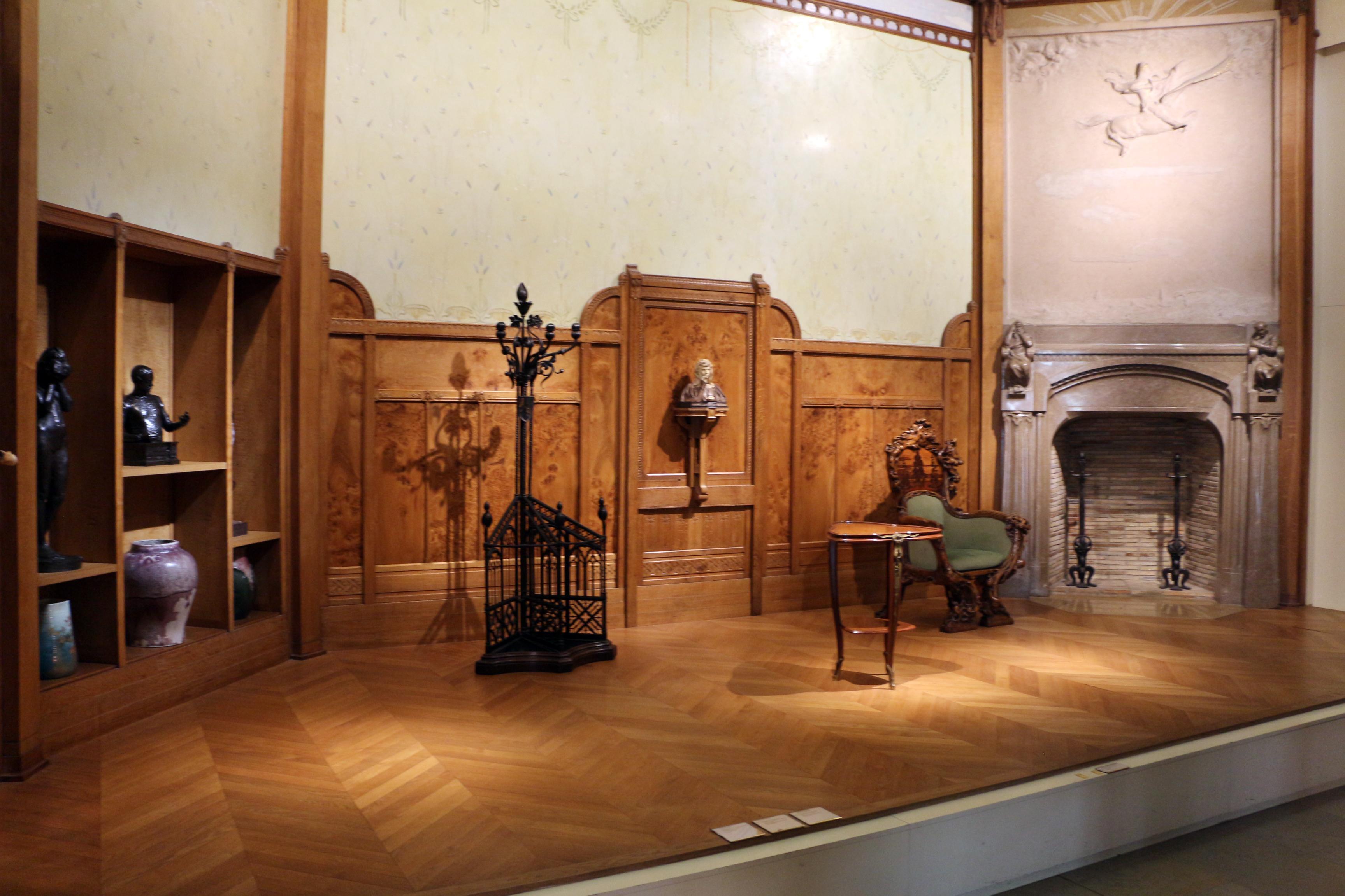 File:Jean dampt, boiserie e camino della salle du chevalier dell ...