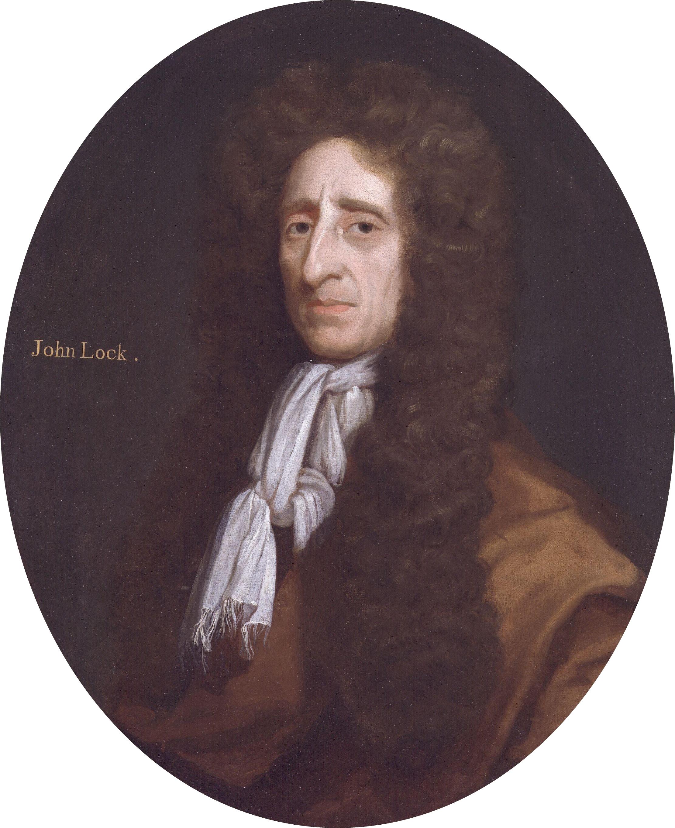 A portrait of John Locke (From wikipedia)