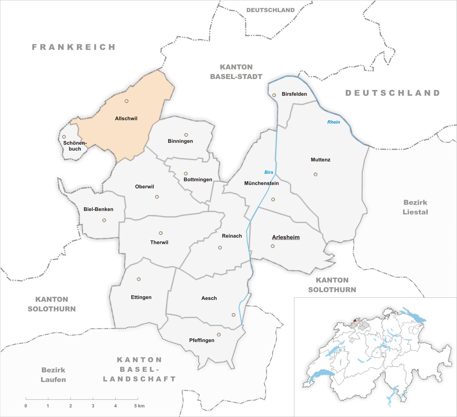 FileKarte Gemeinde Allschwil 2007png Wikimedia Commons