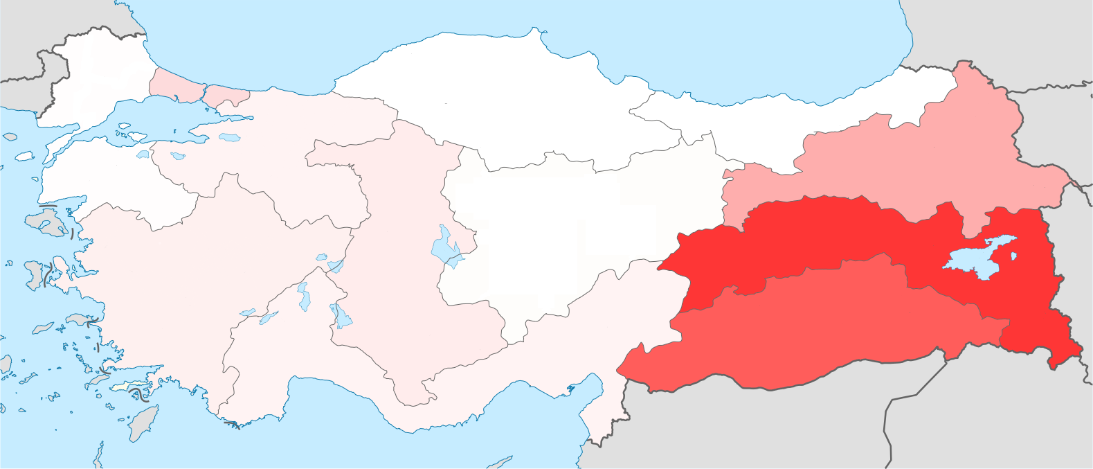 Image result for map of anatolia kurds