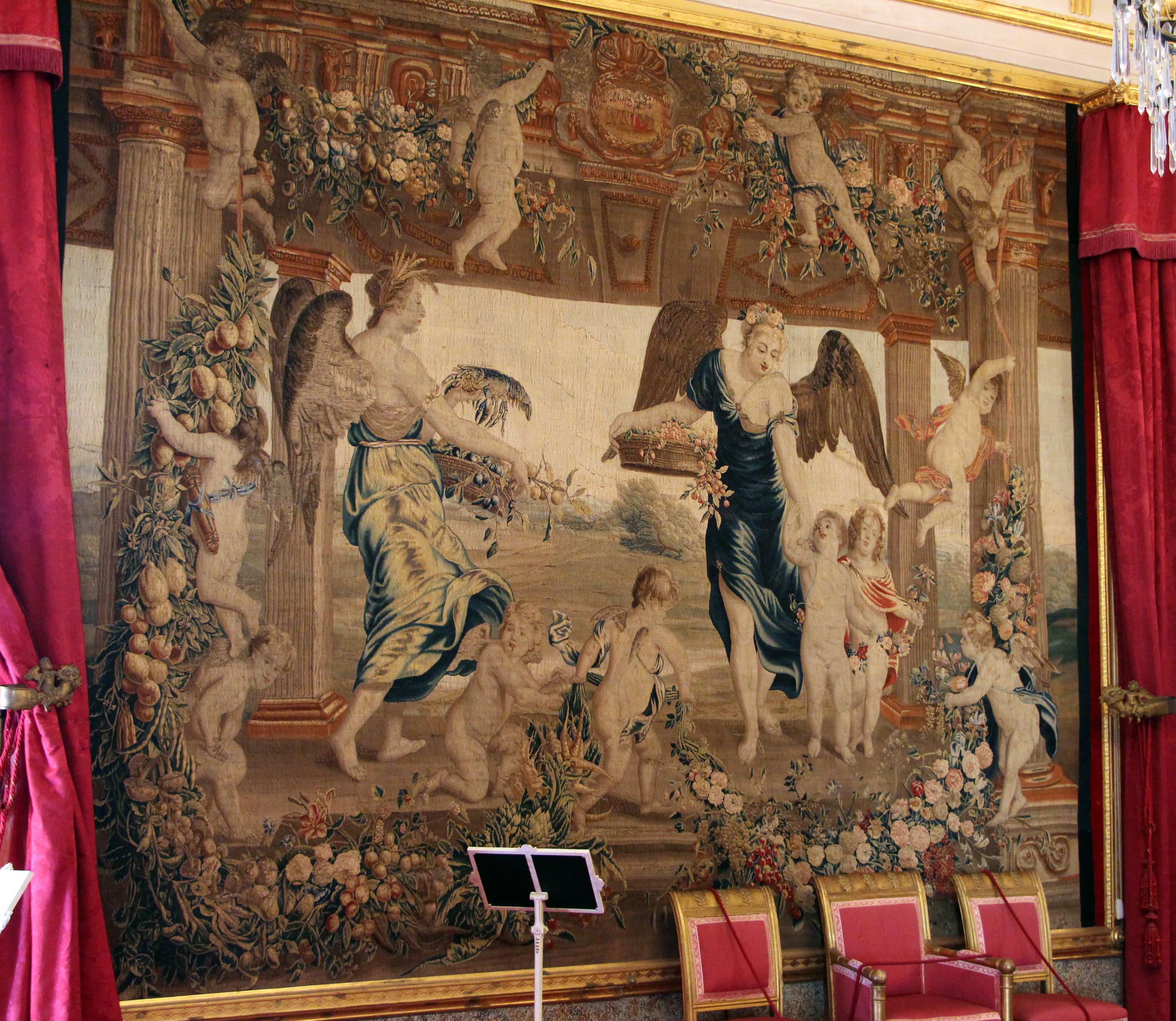 Description La Petraia Sala Da Pranzo O Sala Rossa Arazzi Fiamminghi  #A02B3B 2653 2304 Sala Da Pranzo Pareti