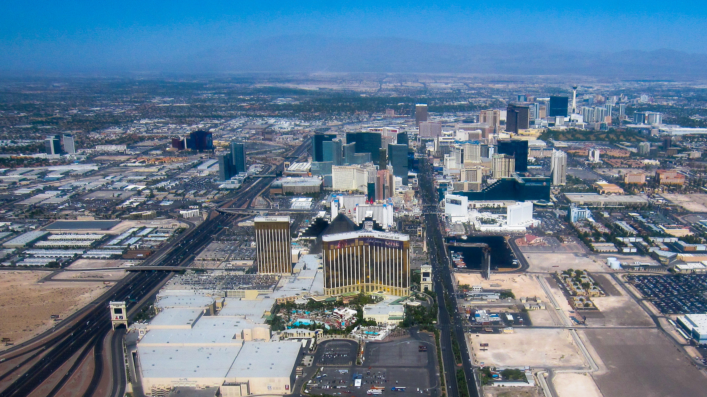 las vegas strip Aerial view