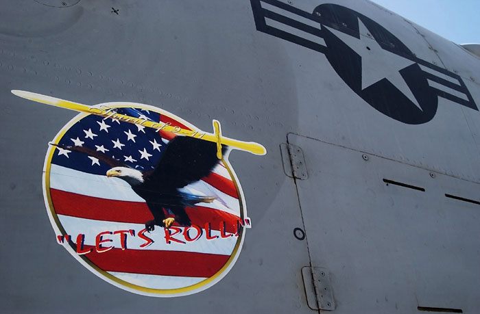 Let's roll decal on an A-10 Thunderbolt II aircraft.jpg