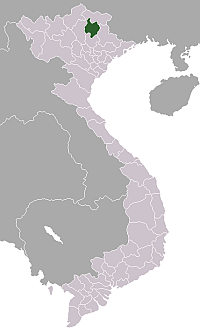 Location of Bắc Kạn Province