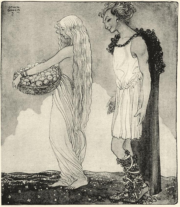 Loki e Idun, de John Bauer