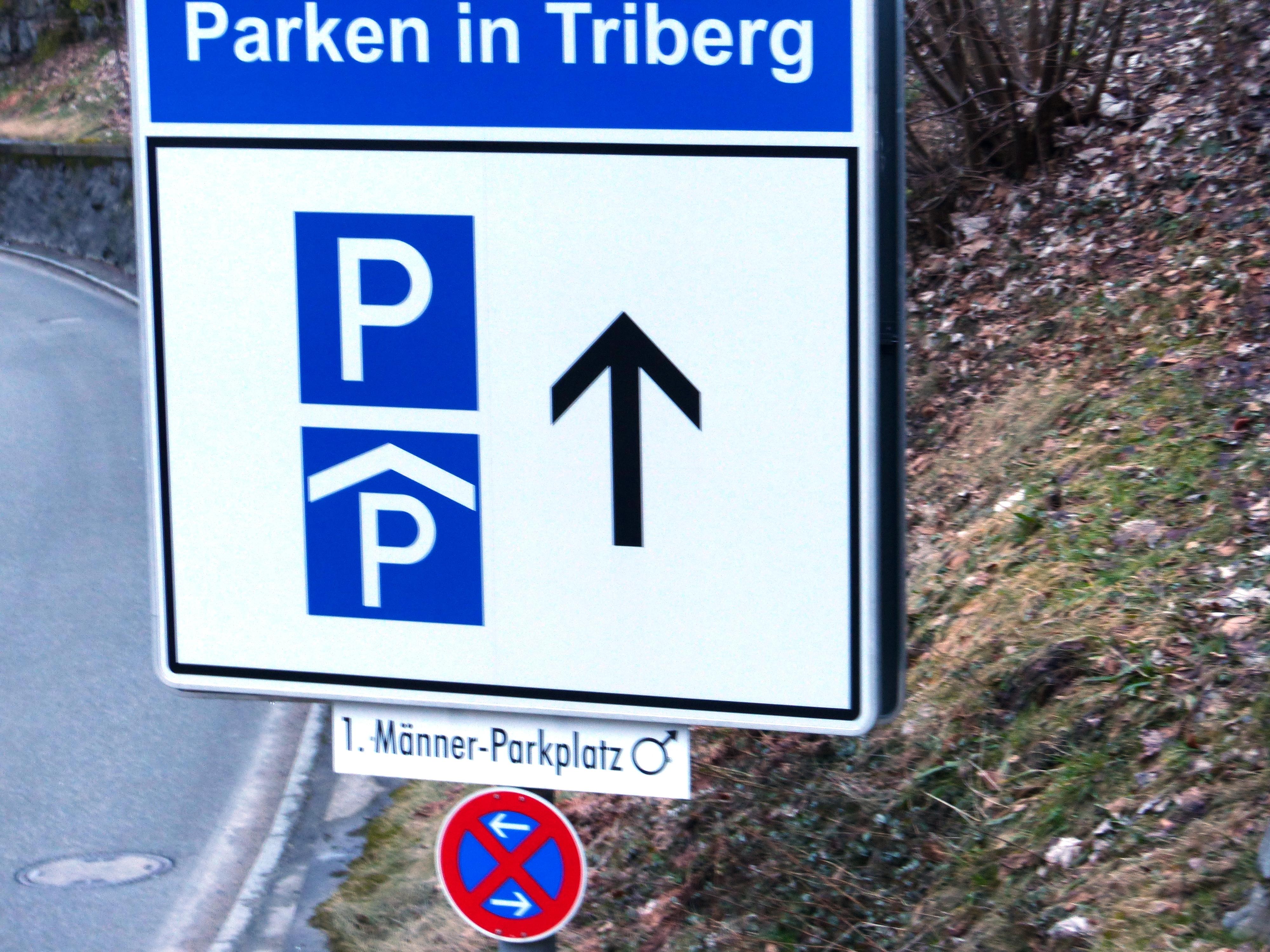 Mnner Parkplatz