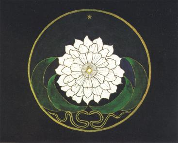 Mandala Golden Flower Painting from Jung