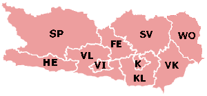 The districts of Carinthia