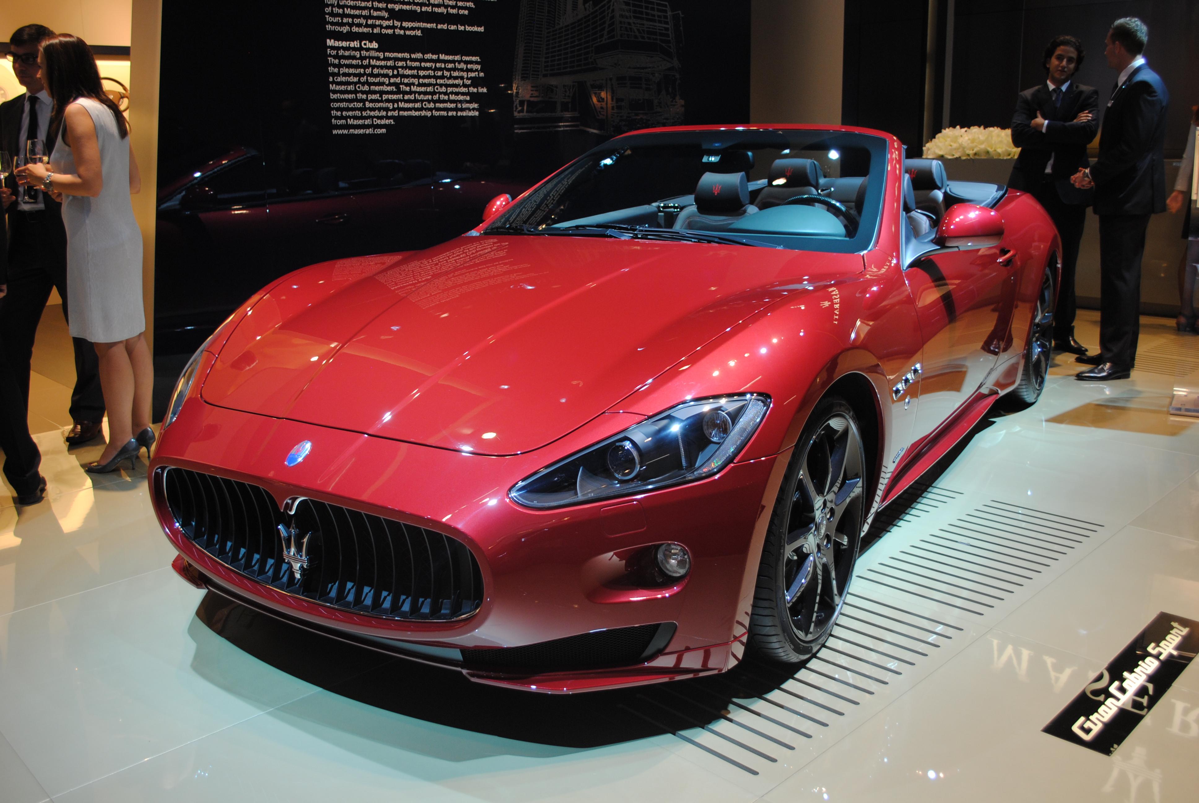 File:Maserati GranCabrio Sport at the Frankfurt Motor Show IAA 2011 ...