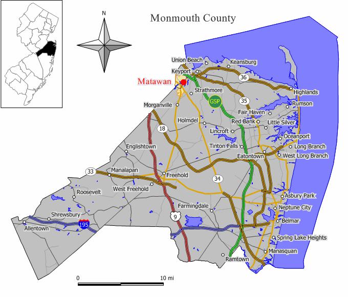 Image result for matawan nj map