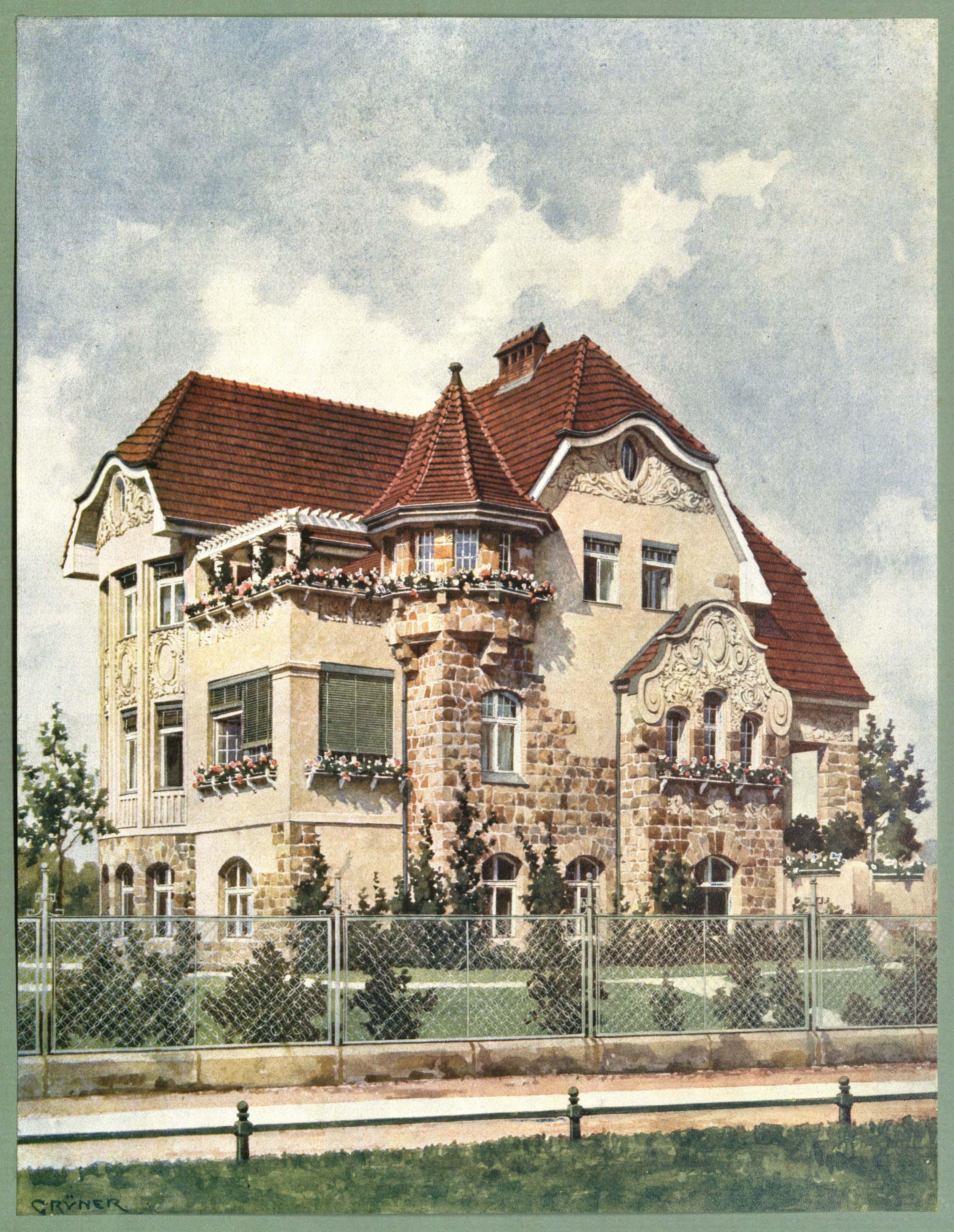file moderne villen in meisteraquarellen serie ii tafel 034 berlin zehlendorf villa. Black Bedroom Furniture Sets. Home Design Ideas