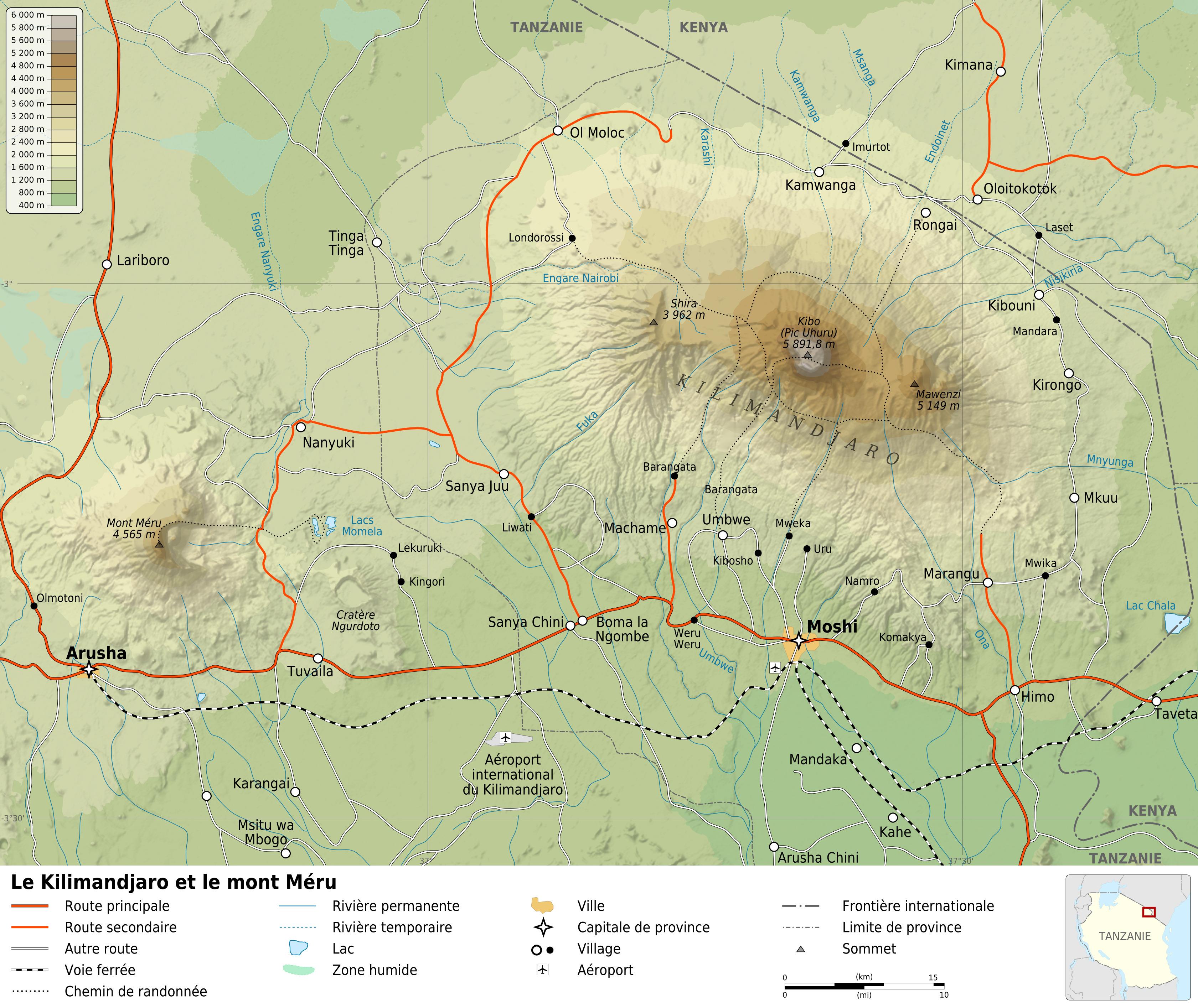 filemount kilimanjaro and mount meru mapfr. filemount kilimanjaro and mount meru mapfr  wikimedia commons
