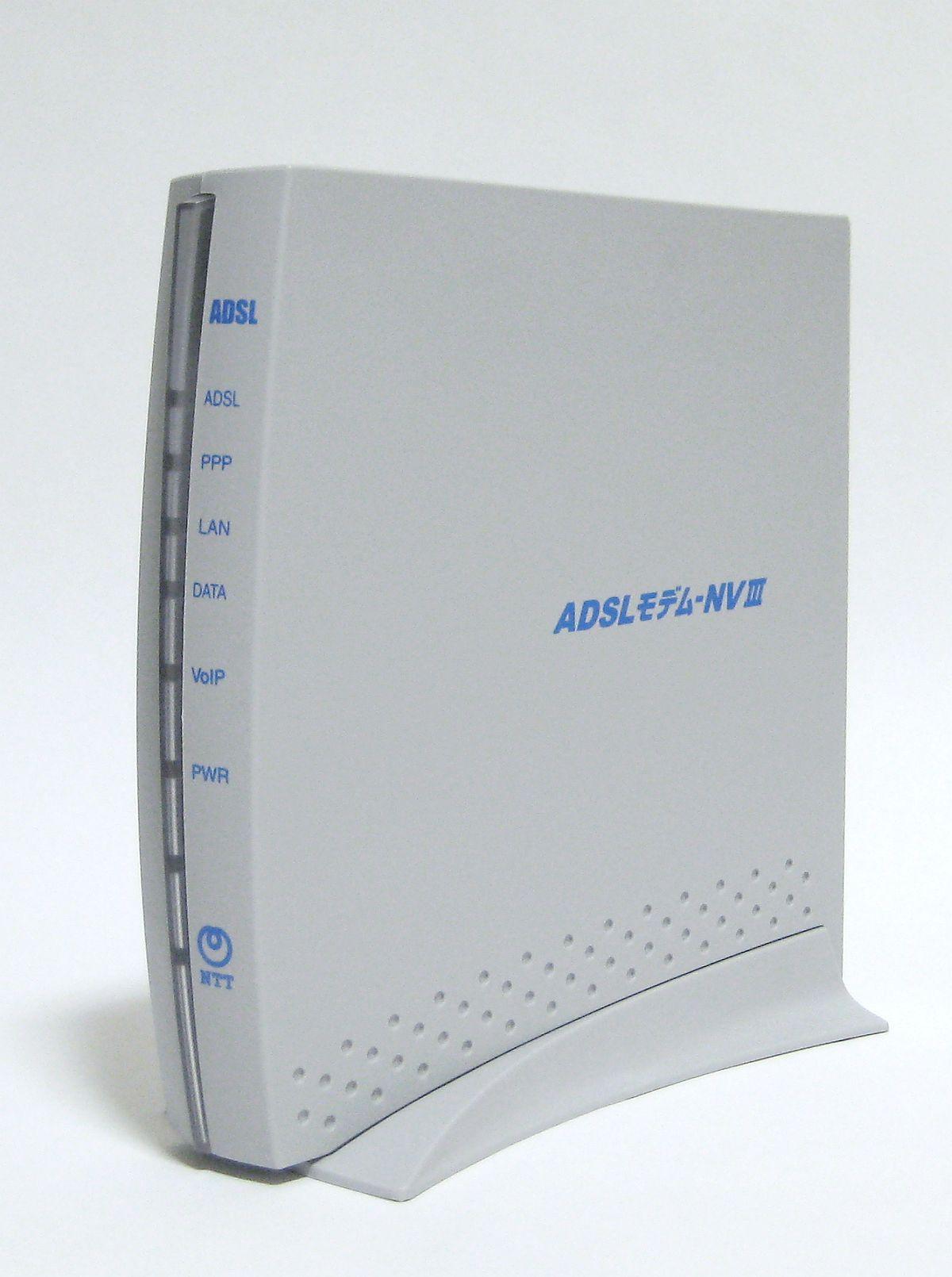 File:NTT East ADSL modem-NVIII.jpg
