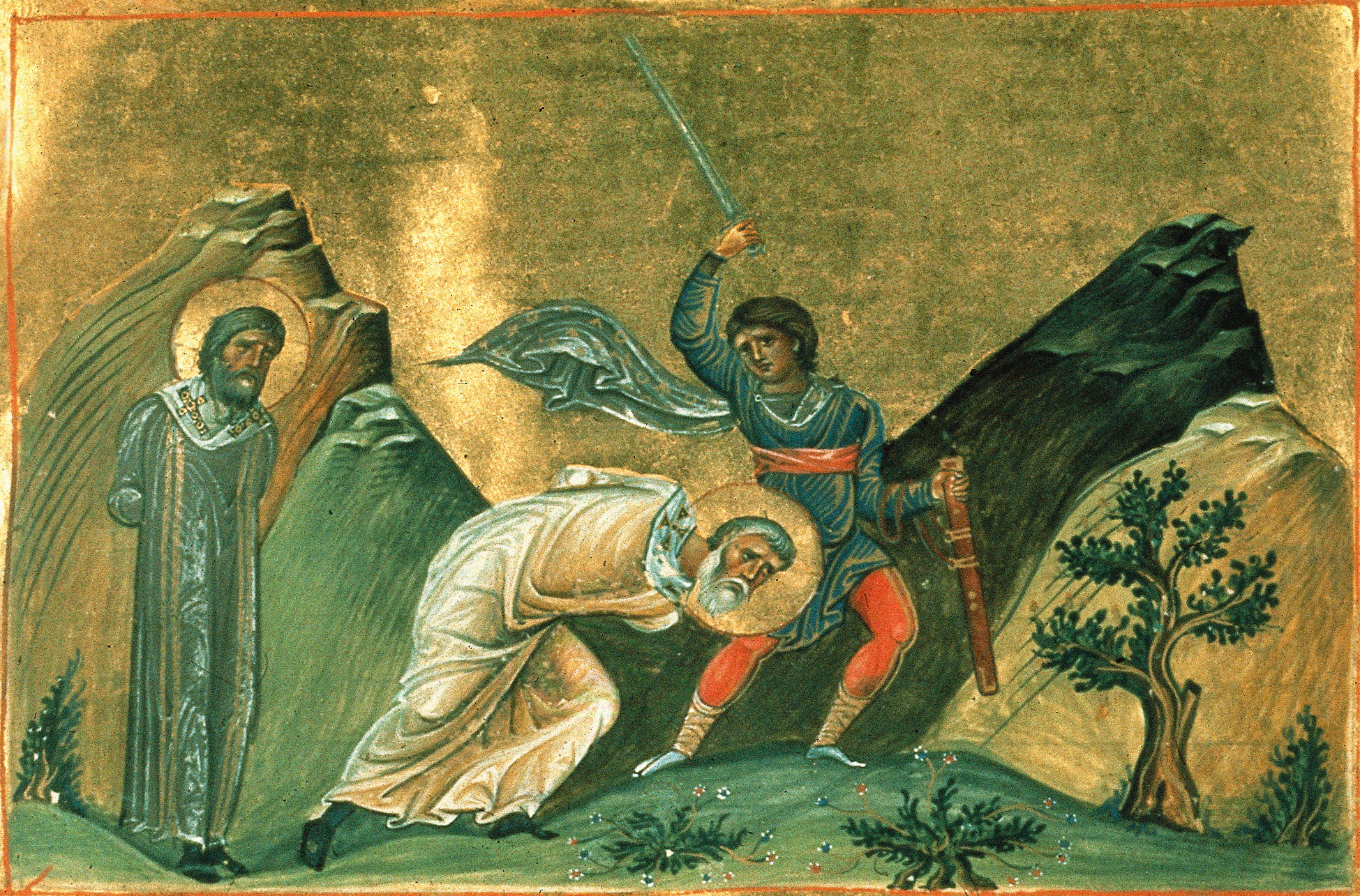 De hellige Nerses og Josef i keiser Basilios IIs Menologion (1000-t)