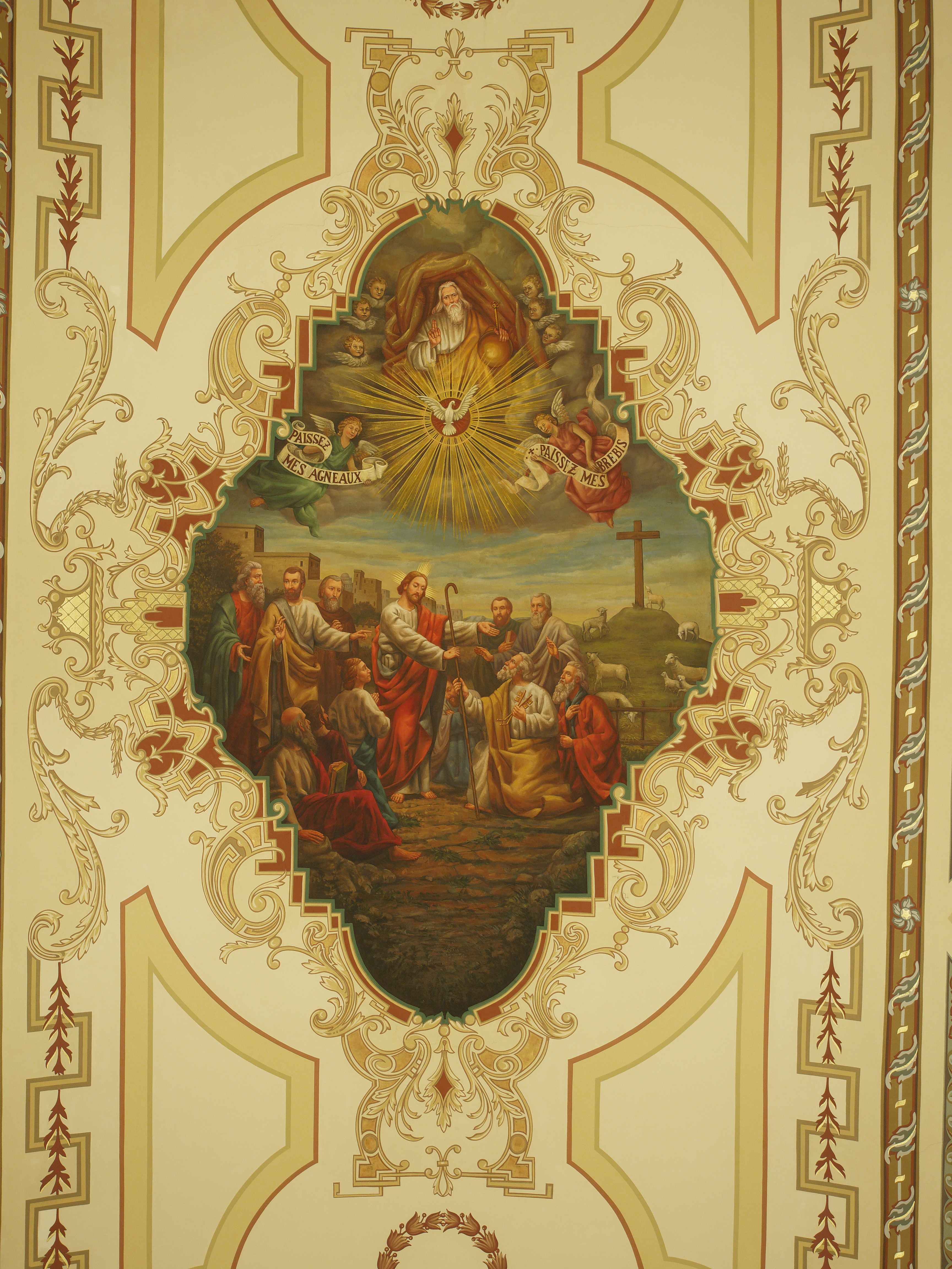 file new orleans st louis cathedral ceiling painting jpg wikimedia