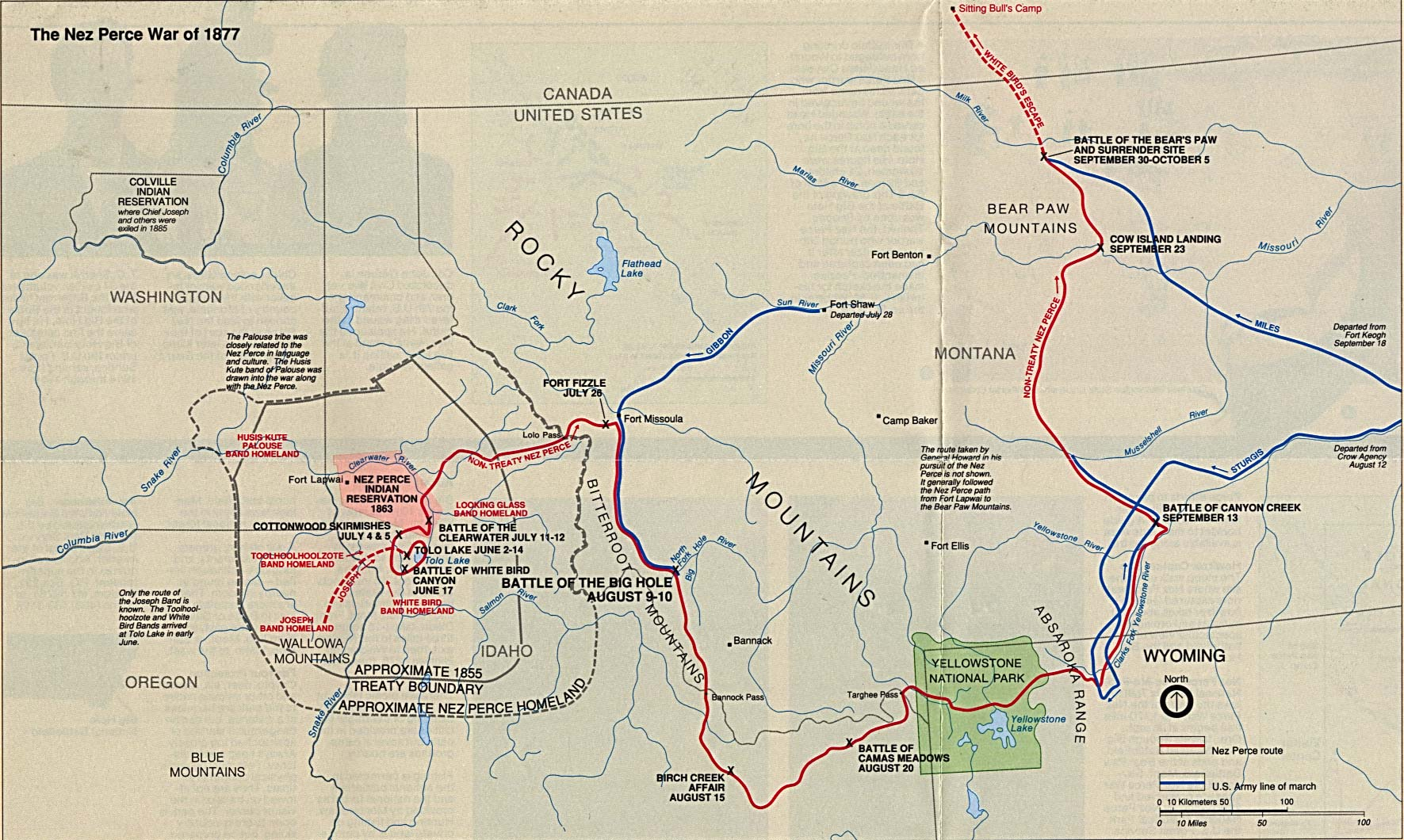 sunriver map with File Nez Perce War Battle Map 1877 on Map 11 additionally 29770 in addition 1863 as well File Nez Perce War battle map 1877 also Sun River Loop.