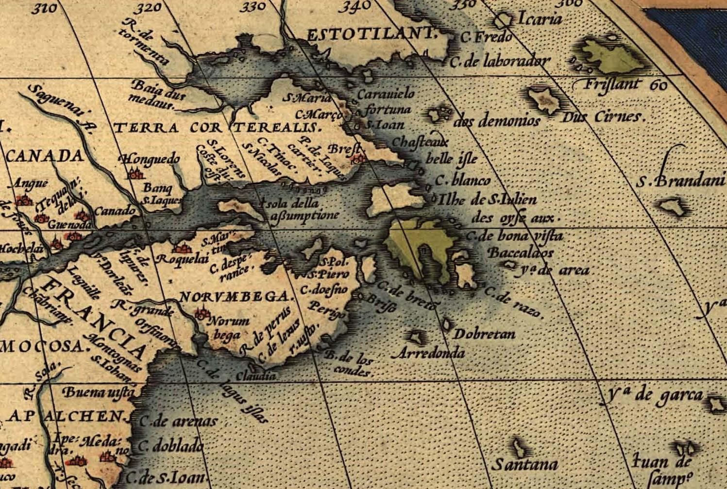 [Ortelius map]