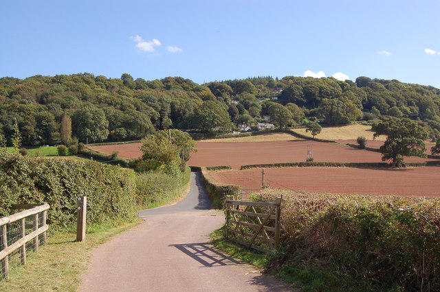 Offa's Dyke footpath ascending the Kymin - geograph.org.uk - 1500853