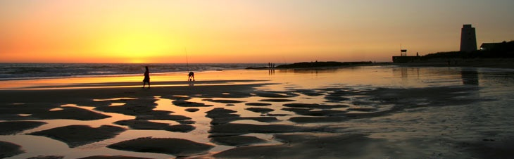 Panorámica de la playa de El Palmar