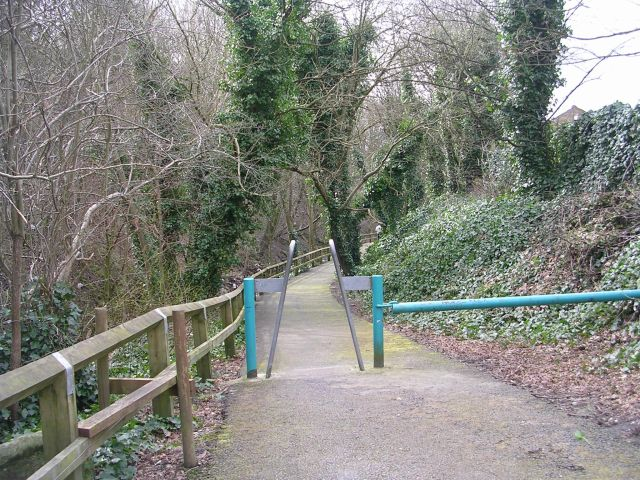 Path alongside Hebble Brook - Bottoms - geograph.org.uk - 736595