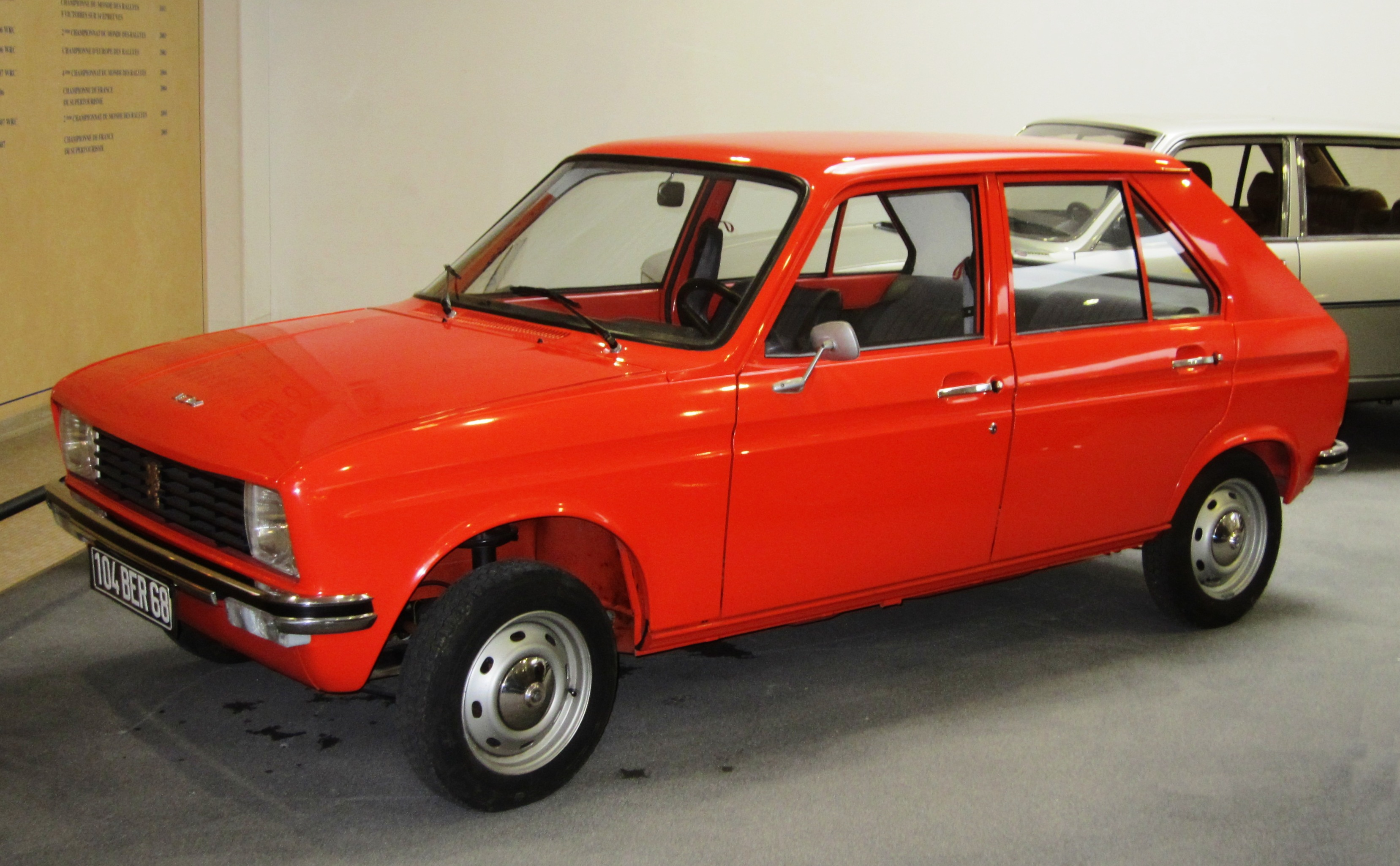 File:Peugeot 104 (early one) at Peugeot Museum in Sochaux.JPG