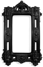 A picture frame.