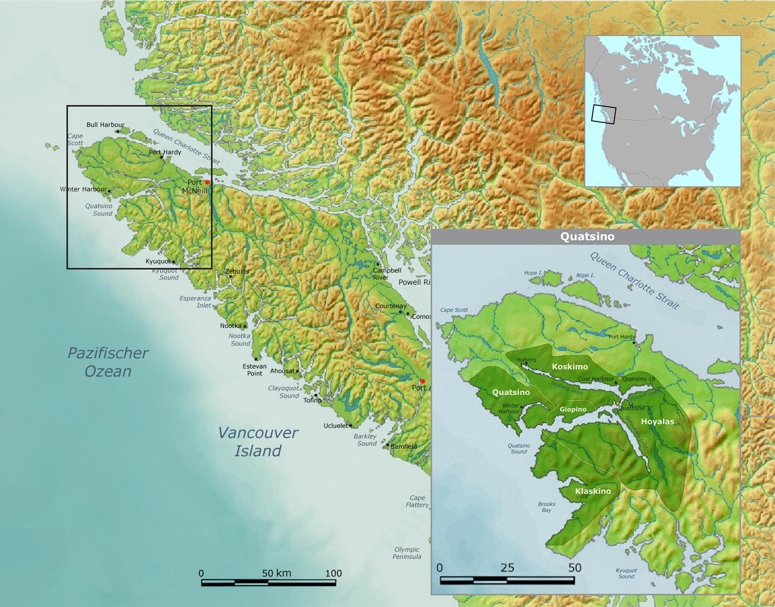 Quatsino Territory Vancouver Island