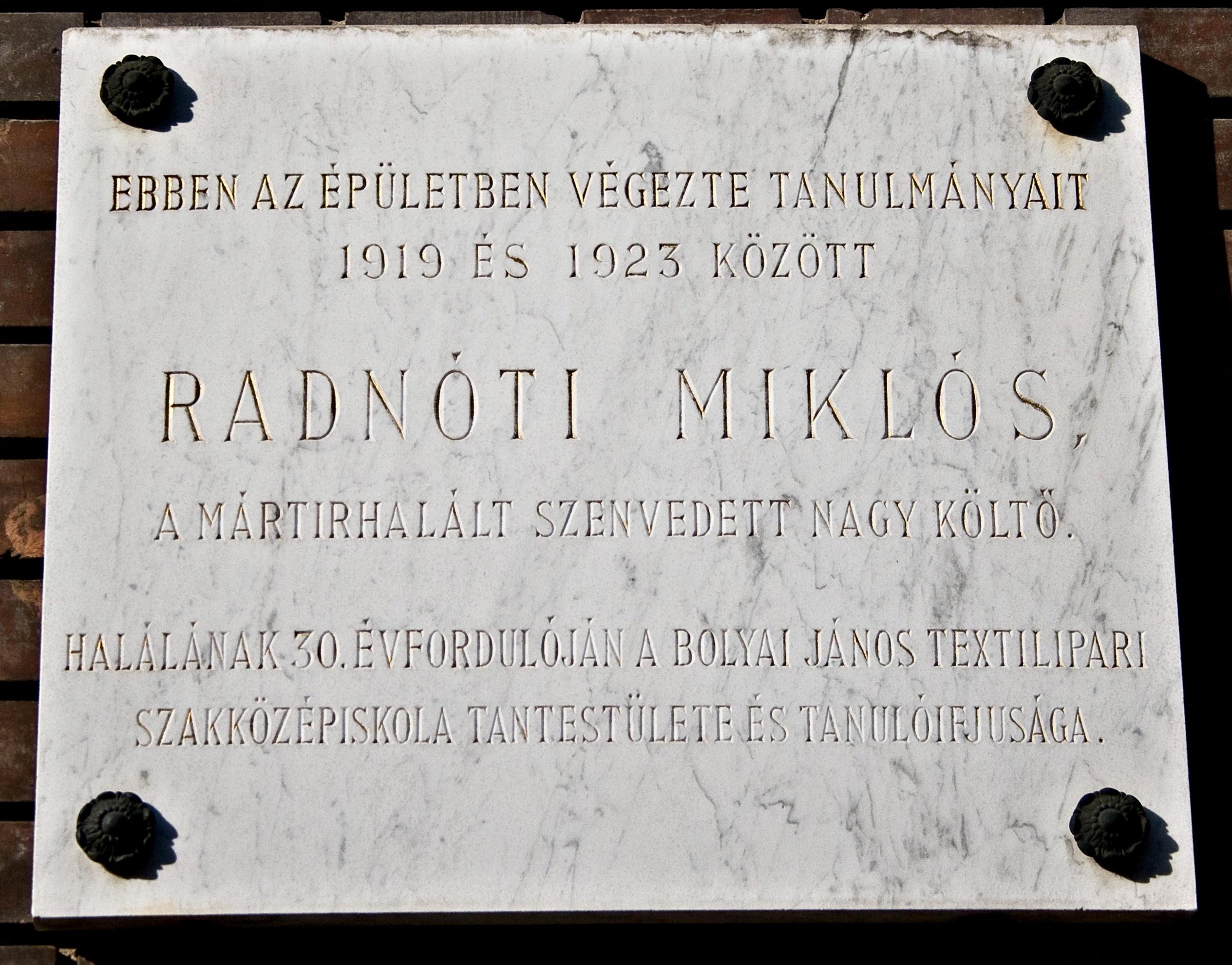 Miklos Radnoti Poems File Radn ti Mikl s Mark 1820