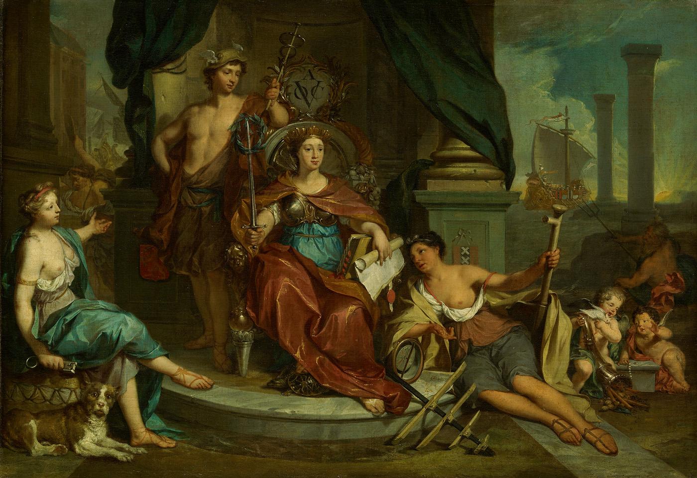 File sb 6395 allegorie op de amsterdamse kamer van de wikimedia commons - Schilderij in de kamer ...