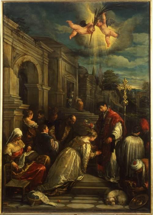 San Valentino battezza santa Lucilla (Jacopo Bassano, 1575)