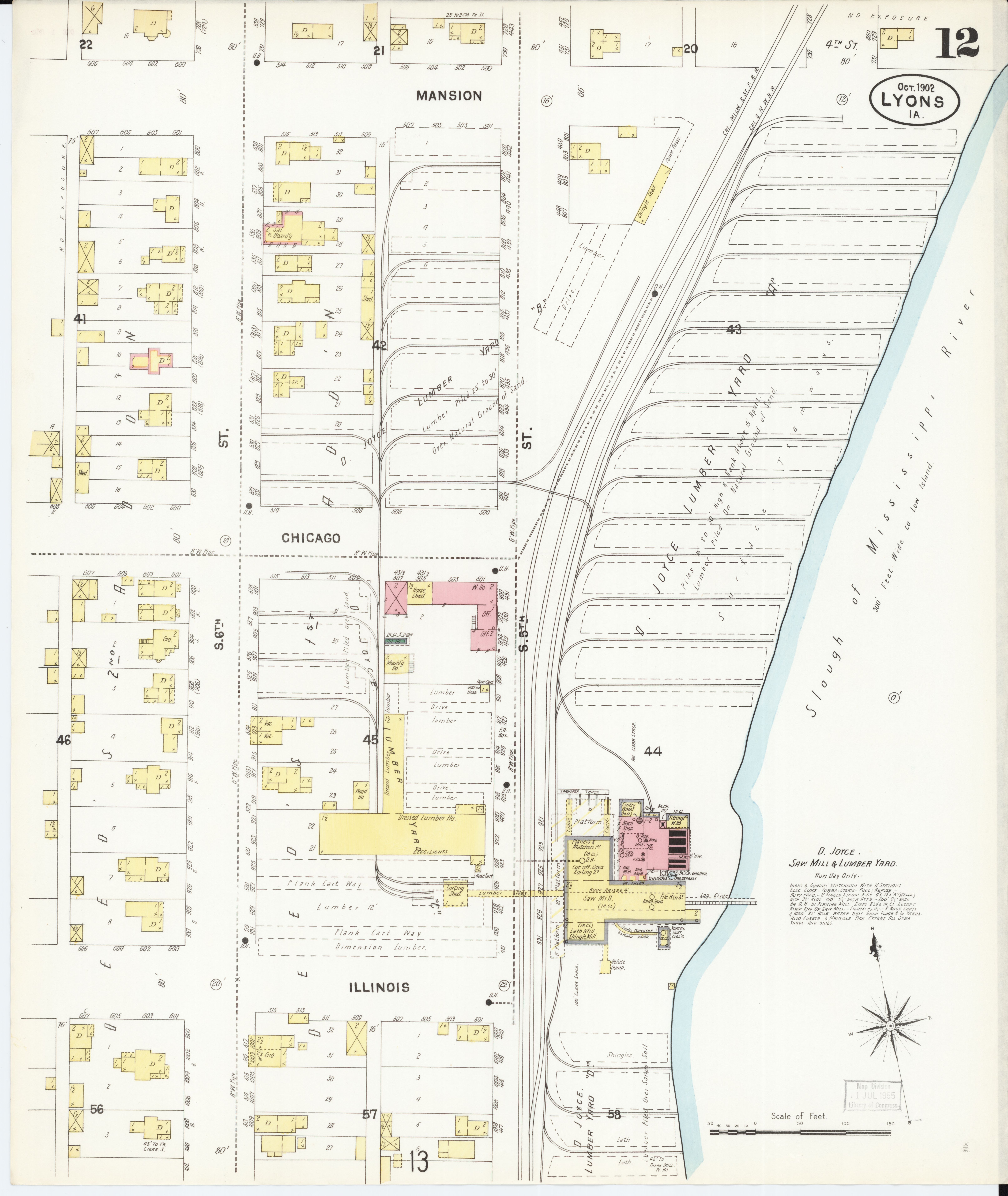 File Sanborn Fire Insurance Map From Lyons Clinton County Iowa