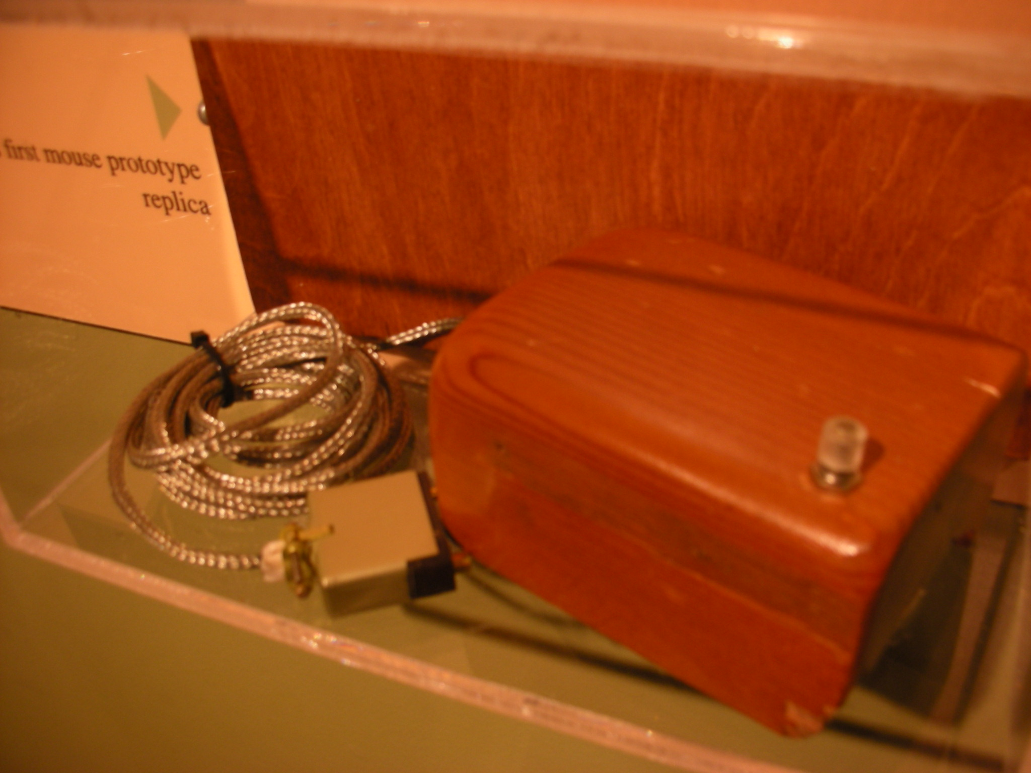 Replica of first computer mouse