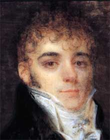 Bolívar at the age of 20 years. Painting in 1804.