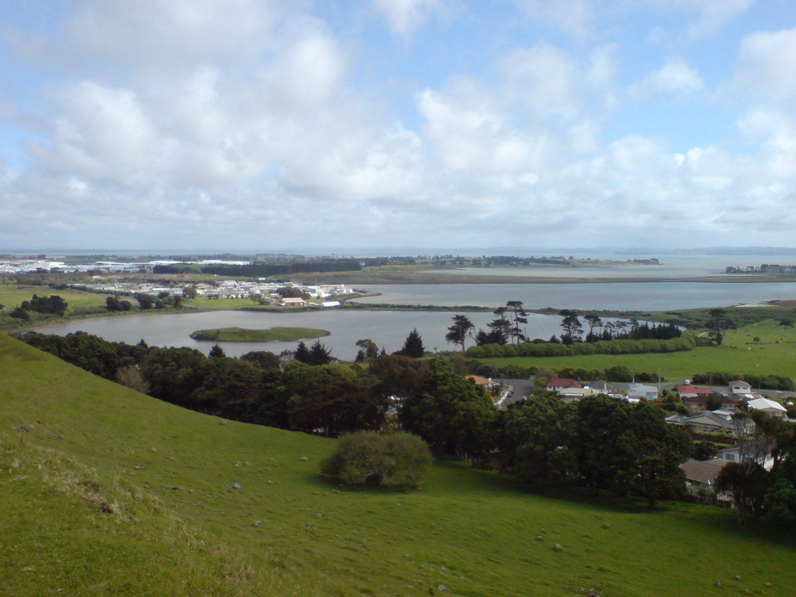 Mangere Lagoon from Mangere Mountain