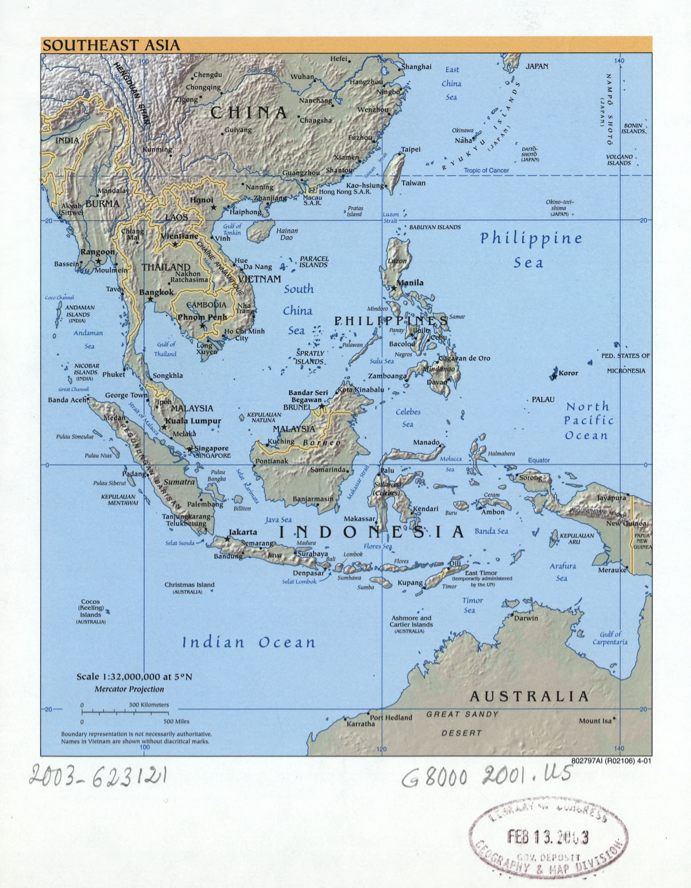 Map 9f Asia.File Southeast Asia Loc 2003623121 Jpg Wikimedia Commons