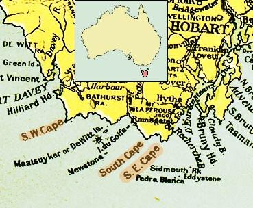 Map South East Australia.South East Cape Wikipedia