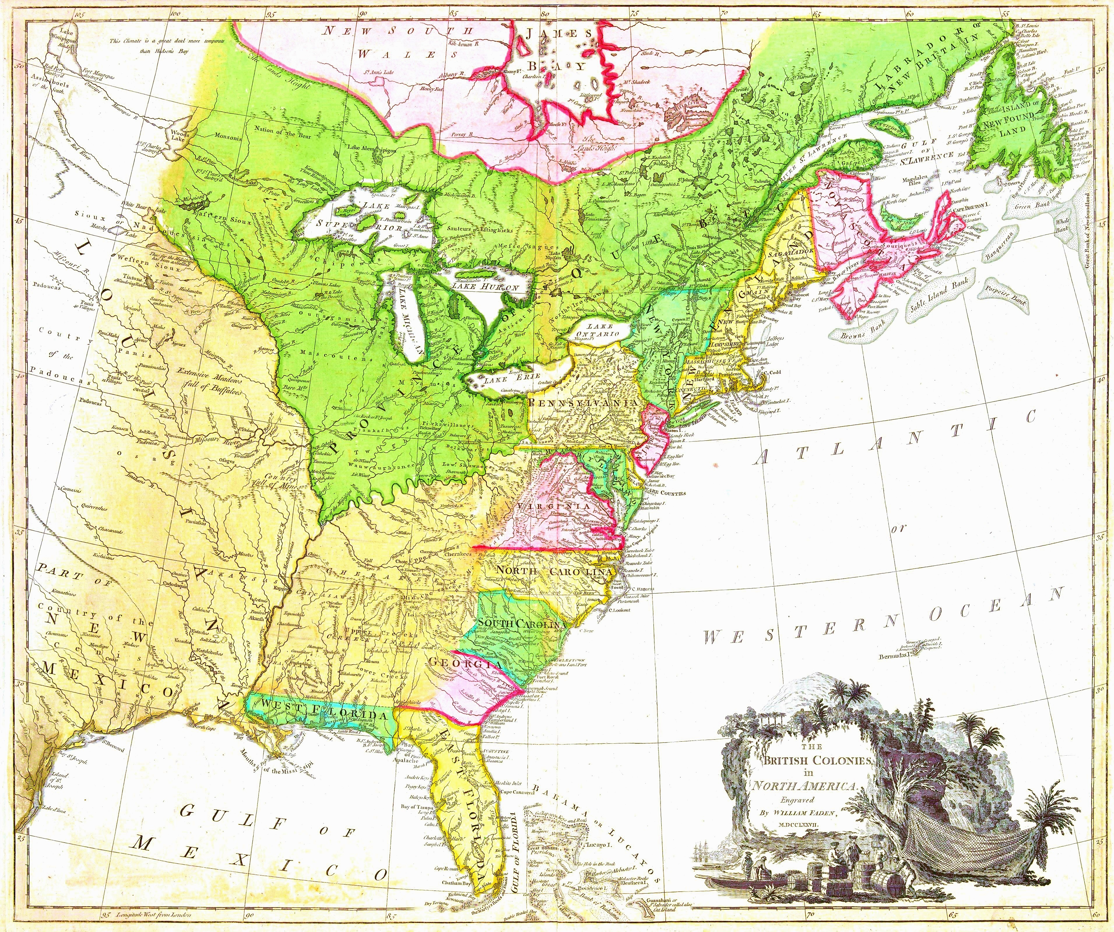 FileThe British colonies in North Americajpg  Wikimedia Commons