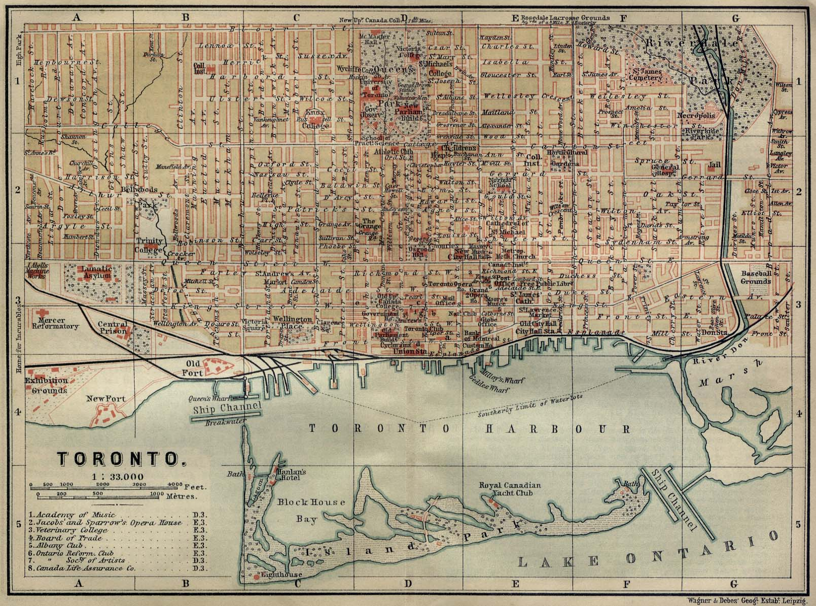 Maps Toronto.File Toronto Map 1894 Jpg Wikimedia Commons