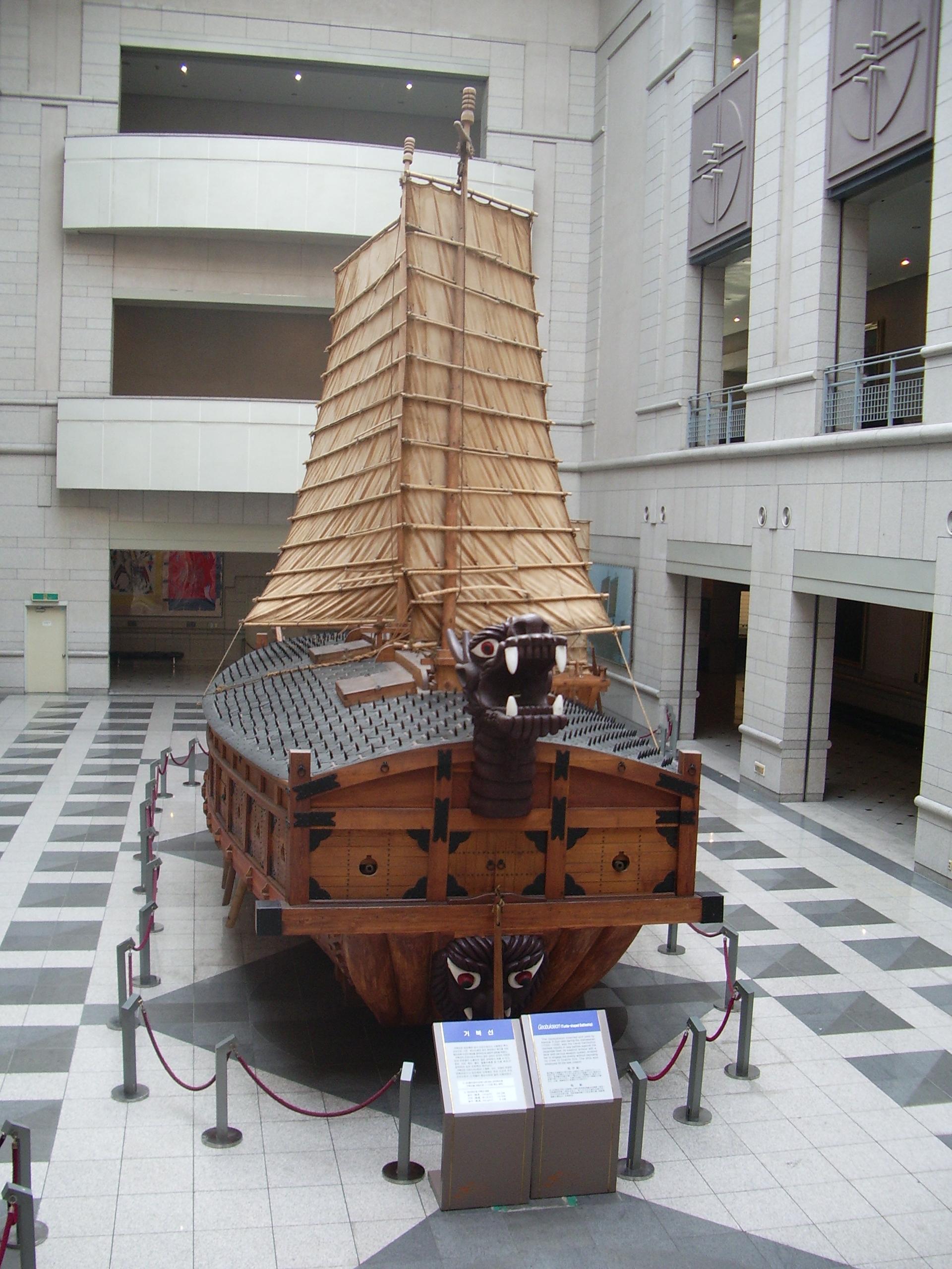 Schildkrötenschiff Kriegsschiff aus Kore. Berühmte Schildkröten auf Villa Amanda der Schildkrötenblog