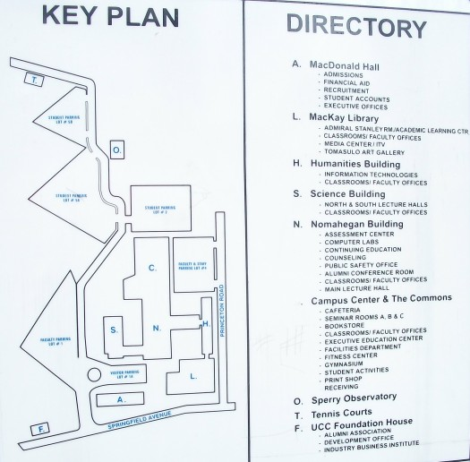 Union County College Campus Map.File Ucc Directory Map Showing Buildings Jpg Wikimedia Commons