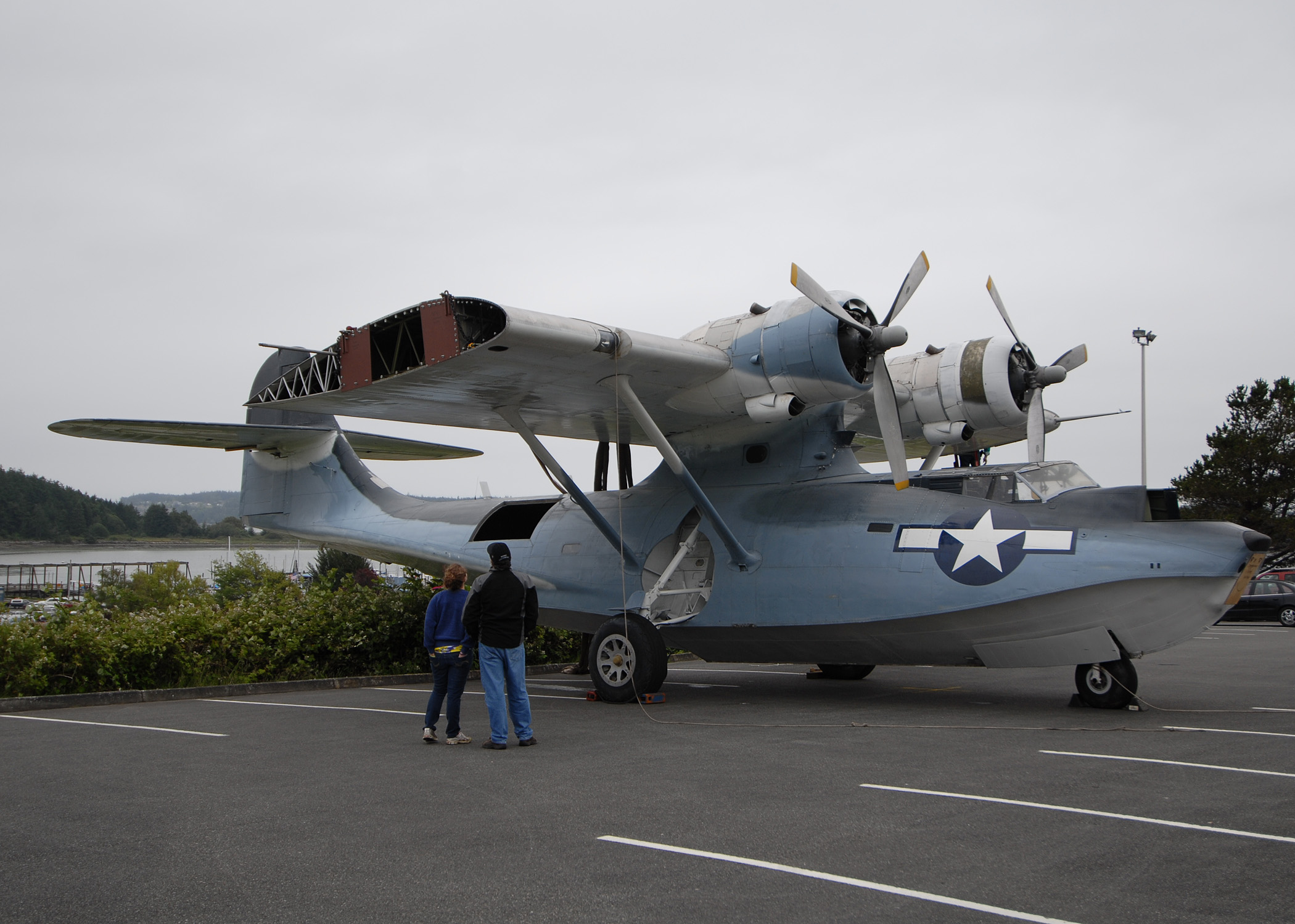 World war ii era pby 5a seaplane at simard hall at the naval air