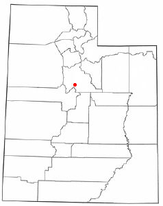 Location of Santaquin, Utah