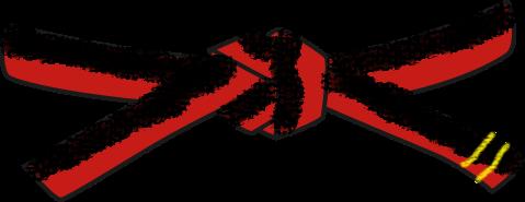 File:Universal Taekwondo UTD Black red 2 pum belt svg.png